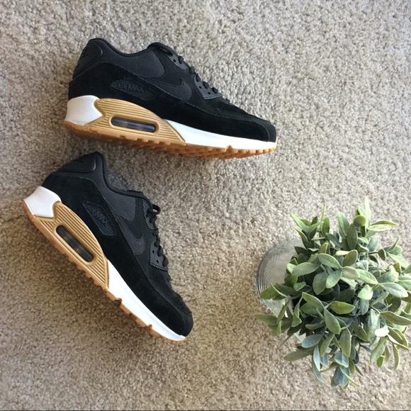 Nike Sportswear Suede Black Air Max 90 Sneakers